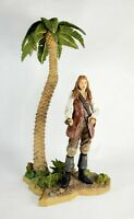 Disney Neca 2006 Pirates of Caribbean Elizabeth Swan Figure, Base & Palm Tree