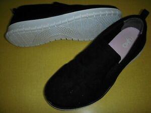 Ryka Sabrina Faux Suede Slip On Walking Shoes Sneakers Women's 11M Black NEW