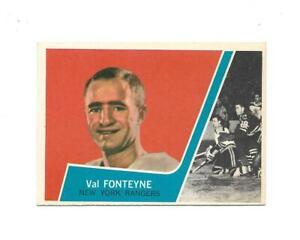 1963-64 Topps:#61 Val Fonteyne,Rangers