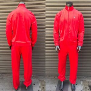 Men's Fila Red Signature Full Zip Tracksuit