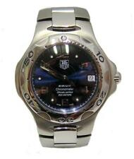 MENS STAINLESS STEEL TAG HEUER KIRIUM CHRONOMETER BLUE DIAL WATCH WL511A 38MM