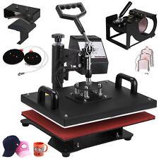 8en1 Presse Chaud Transfert Presse à Chaleur Textile Pressage Imprimé Impression