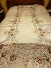 Ex.+lg.+vintage+silk+embroidered+tablecloth%2C+AS+IS