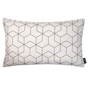 Rectangle Geometric Cushion Cream Off White Sofa Oblong Throw Pillow Case Cover
