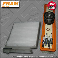 SERVICE KIT RENAULT CLIO MK3 1.2 16V FRAM OIL AIR CABIN FILTER PLUGS (2007-2012)