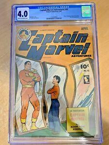 CAPTAIN MARVEL ADVENTURES #45 (CGC 4.0) GOLDEN AGE MONSTER SOCIETY/MR. MIND