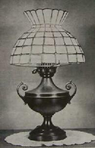 Stained Glass LAMP SHADE How-To Make PLANS Tiffany Style