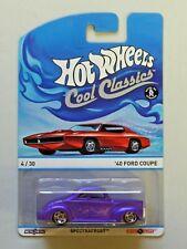 Hot Wheels Cool Classics Metal/Metal '40 Ford Coupe Purple Spectrafrost NIP 1:64