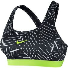 NIKE PRO Classic Medium Support Sports Bra - Women's XL (black/white/volt) NWT