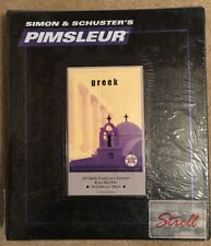 New, Sealed, Pimsleur GREEK I (Level 1) Comprehensive Language Course, 16 CD's