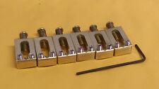"""Killer Brass Saddles - Best Alloy - 3D Radiused String Ramp - 10.5mm 2-1/16"""""""