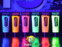 UV Glow Neon Face & Body Paint - 10ml SET of 3 - Fluorescent (WAX BASED)