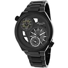 Kenneth Cole KC3992 Men's Stainless Steel  Black Dial  Dual Time Watch