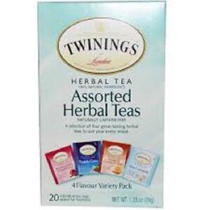 Twinings Assorted Herbal Teas, 20 Individual Tea Bags, Exp. 11/2022