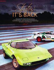 1976 2011 Lancia Stratos Original Car Review Report Print Article J920