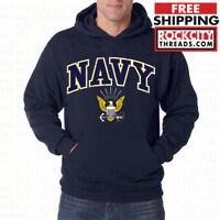US NAVY LOGO HOODIE United States Crest Hooded Sweatshirt Hoody USNAVY Military