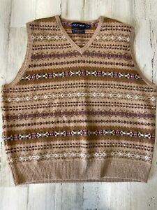 Polo Ralph Lauren Golf Sweater Vest Size XL Fair Isle Wool Cashmere