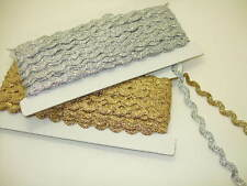 Gold and Silver ric rac braid