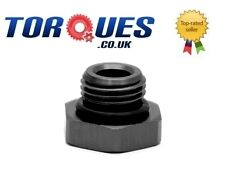 AN -12 (AN12 AN 12) Hex Head Port Plug with Oring Black
