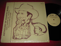 HANK WILLIAMS - ANTHOLOGY OF COUNTRY MUSIC ACM-10 - RARE EARLY COUNTRY LP
