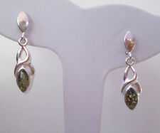 BALTIC AMBER  EARRING 925 STERLING SILVER