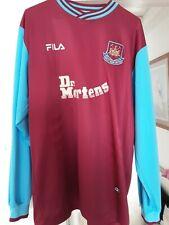 Rare Mens West Ham United Football Shirt Long Sleeve 2001 Fila Top