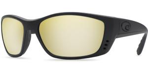 COSTA DEL MAR Fisch Yellow / Sunrise Silver Mirror 580 GLASS Blackout XL