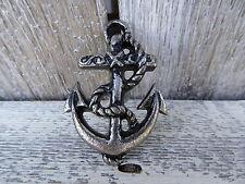 Ship Boat ANCHOR Pewter Silver Metal Nautical KNOB DRAWER PULL Choose Quantity