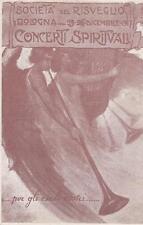 C2453) BOLOGNA 1917, SOCIETA' DEL RISVEGLIO, CONCERTI SPIRITUALI.