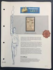 Olympics Roma 1960 Italia Italy Gold stamp 99,8% Goldauflage Only 4.999 MNH 6/10