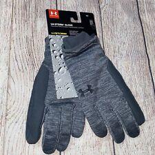 New Under Armour Storm Glove Men's Medium Gray Water Resistant Speedwipe Gloves