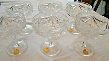 Katharinen-Hütte 6 Sekt-/ Champagnerschalen Bleikristall glasklar Burg Lindau
