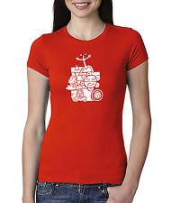 Puerto Rico Mix National Taino Symbols, Women Crew Neck Tshirt