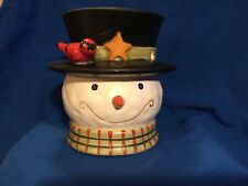 Vintage Yankee Candle Snowman Votive Candle Tea Light Holder Winter