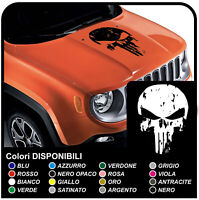 Adesivo Sticker Jeep Renegade cofano punisher effetto grunge military