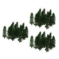 60x Railway Trees Scenery Model Fir Tree 1:100 Landscape Layout Toy Accs