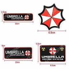 Resident Evil Umbrella Corporation 3D Army Morale Chest Rubber Hook Loop Patch