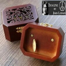 COLLECTIBLE  OCTAGON CARVING MUSIC BOX ♫ IMAGINE @ JOHN LENNON ♫