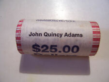 JOHN QUINCY ADAMS ONE US DOLLAR 25 COIN BANK ROLL HEADS TAILS