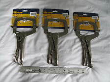 "(3) New Irwin 11"" Vise-Grip Locking C-Clamp 11R, 3-3/8"" Capacity"