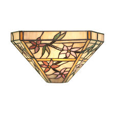Interiors 1900 Clematis tiffany wall light 40W E14 golf