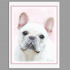6 French Bulldog Frenchie Cream White Blank Art Note Greeting Cards