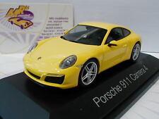 """Herpa 071086-PORSCHE 911 Carrera 4 Coupé in """"RACING GIALLO"""" 1:43"""