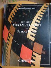 COLLECTION YVES SAINT LAURENT P. BERGE T.IV ARTS DECORATIFS DU XXème SIECLE