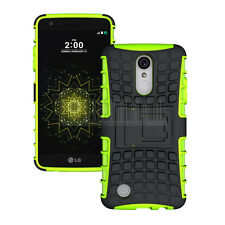 Shockproof Hybrid Rubber Kickstand Phone Case Cover For LG Fortune Phoenix 3