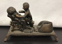 """Cast Iron Spring Loaded Dentist Tooth Pull Themed Toy Coin Bank 9"""" Mechanical"""