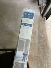 """Linden Street 2nd gen. Thermal Lined 100% Cotton Duck Roman Shades 36"""" x 64"""" NEW"""
