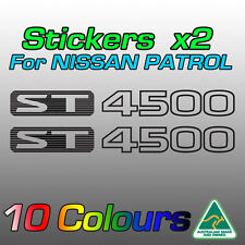 Nissan Patrol ST4500 ST 4500 stickers decals for GU model   **Premium quality***