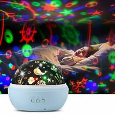 Upgrow Baby Night Light, 2 in 1 LED Starry Light Projector Lamp Ocean Wave