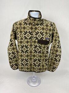 Men's VTG Patagonia Synchilla Snap Button Pullover Fleece Sweatshirt Size XS
